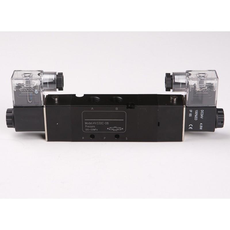 Electrovalva 5 cai 3 pozitii 4V430 G1/8