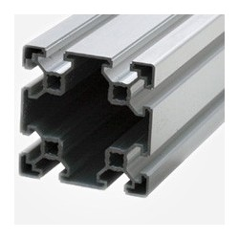 Profil de aluminiu 80x80 mm, canal 10